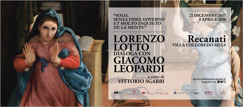Recanati, Lorenzo Lotto dialoga con Giacomo Leopardi