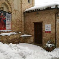 Neve a Recanati, musei chiusi