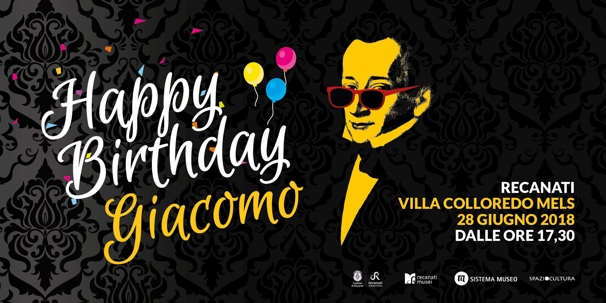 """e;Happy Birthday Giacomo Leopardi""e;, Recanati in festa"