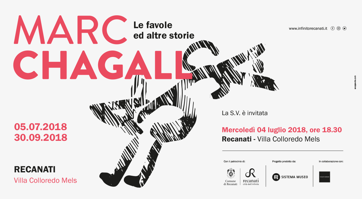 Recanati, inaugurazione della mostra &quote;Marc Chagall Le favole ed altre storie&quote;