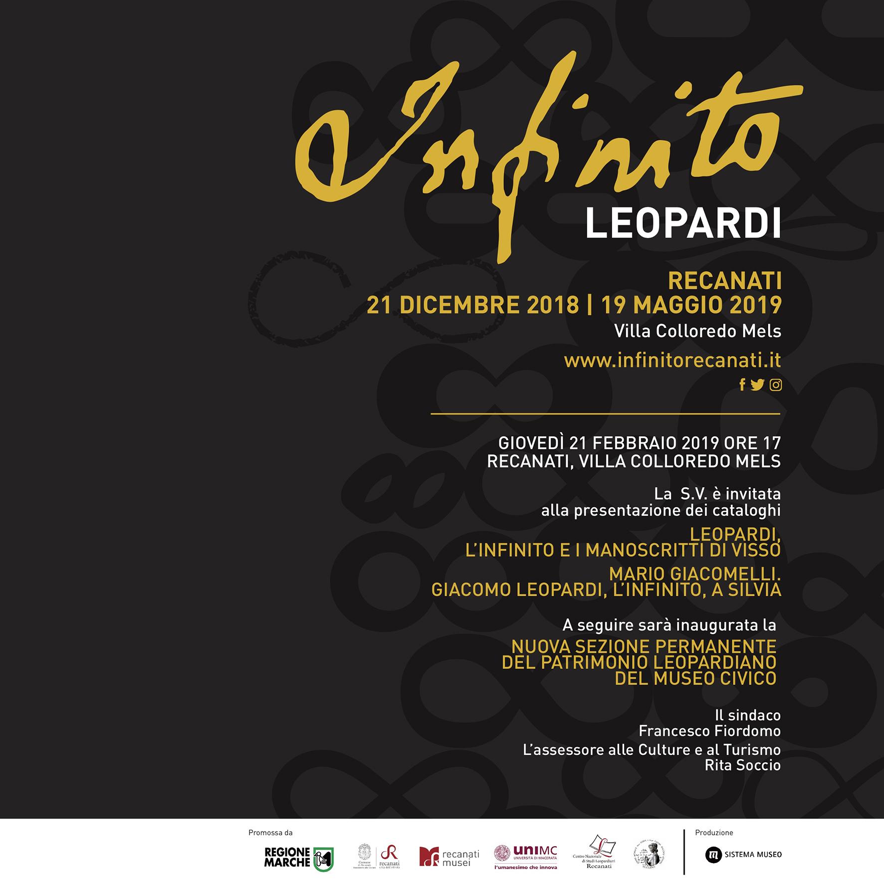 Presentazione cataloghi e inaugurazione sezione leopardiana