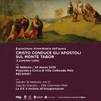 Esposizione straordinaria a Recanati della predella di Lorenzo Lotto