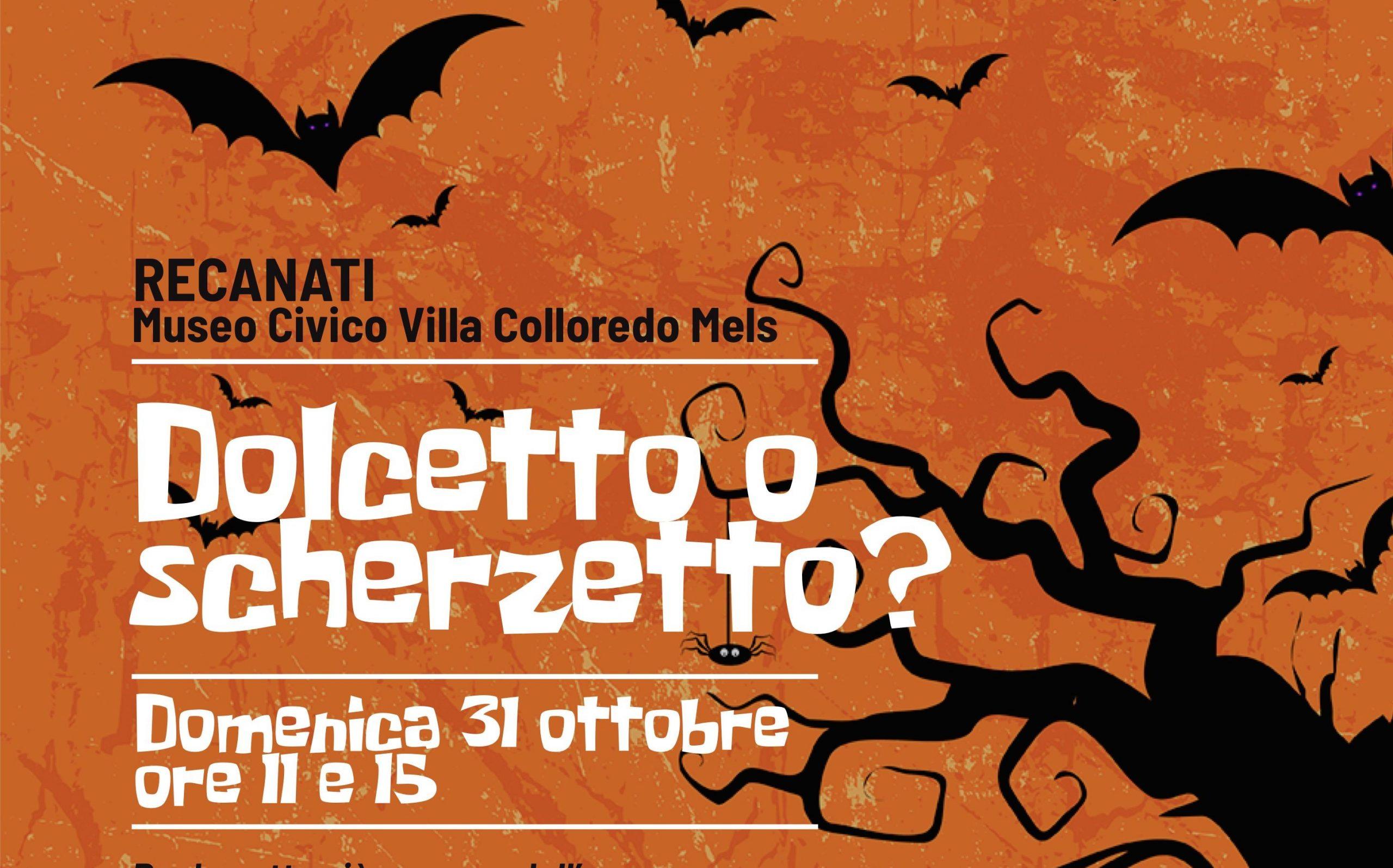 Domenica 31 ottobre &quote;dolcetto o scherzetto?&quote; al Museo Civico di Villa Colloredo Mels