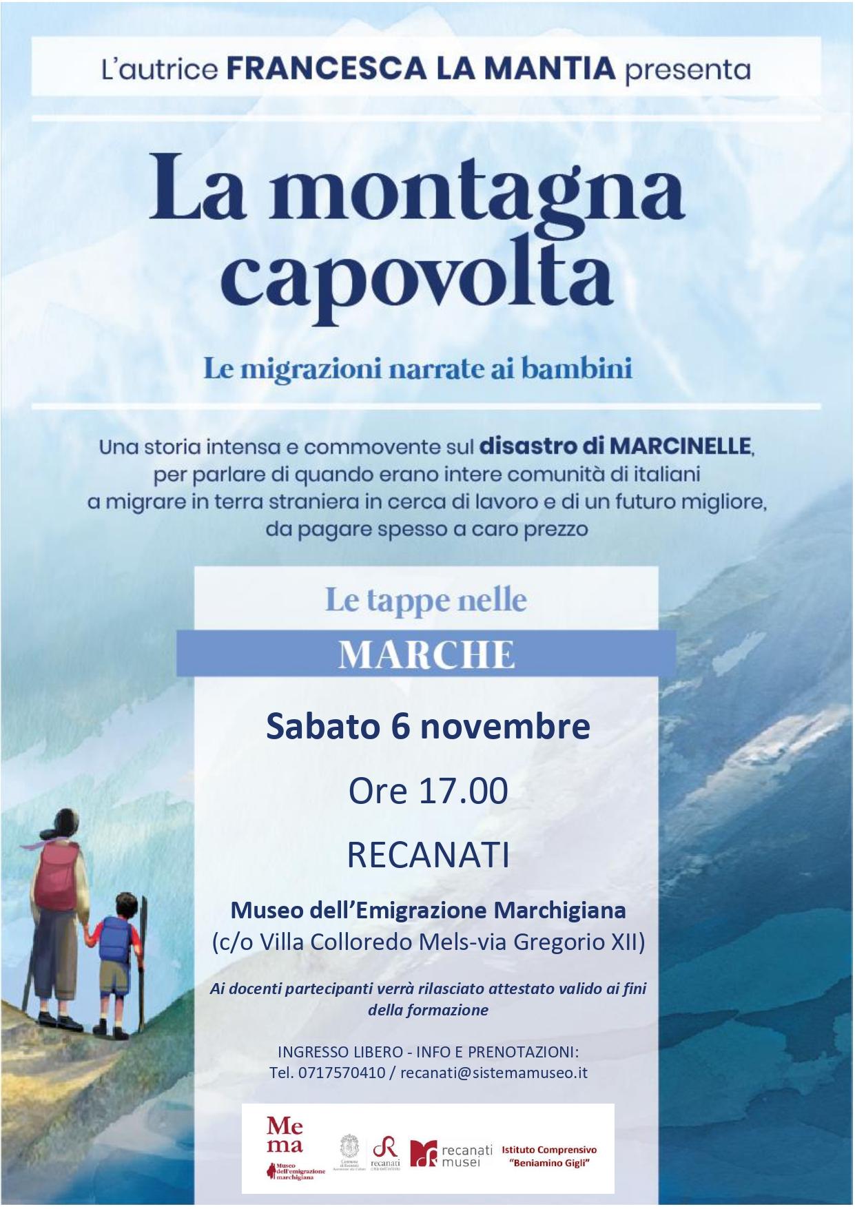 La scrittrice Francesca La Mantia a Recanati per narrare le migrazioni ai bambini